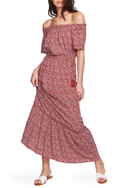 1.STATE OFF THE SHOULDER MAXI DRESS