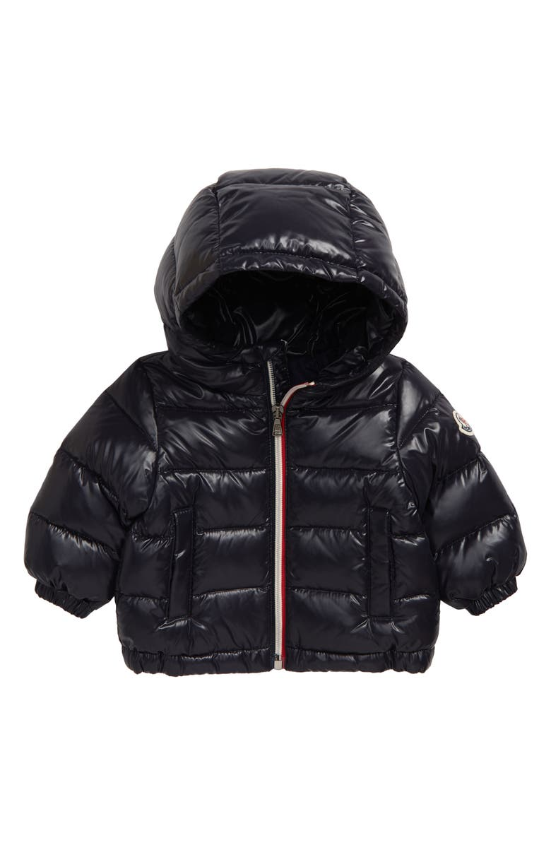 MONCLER New Aubert Hooded Down Jacket, Main, color, NAVY