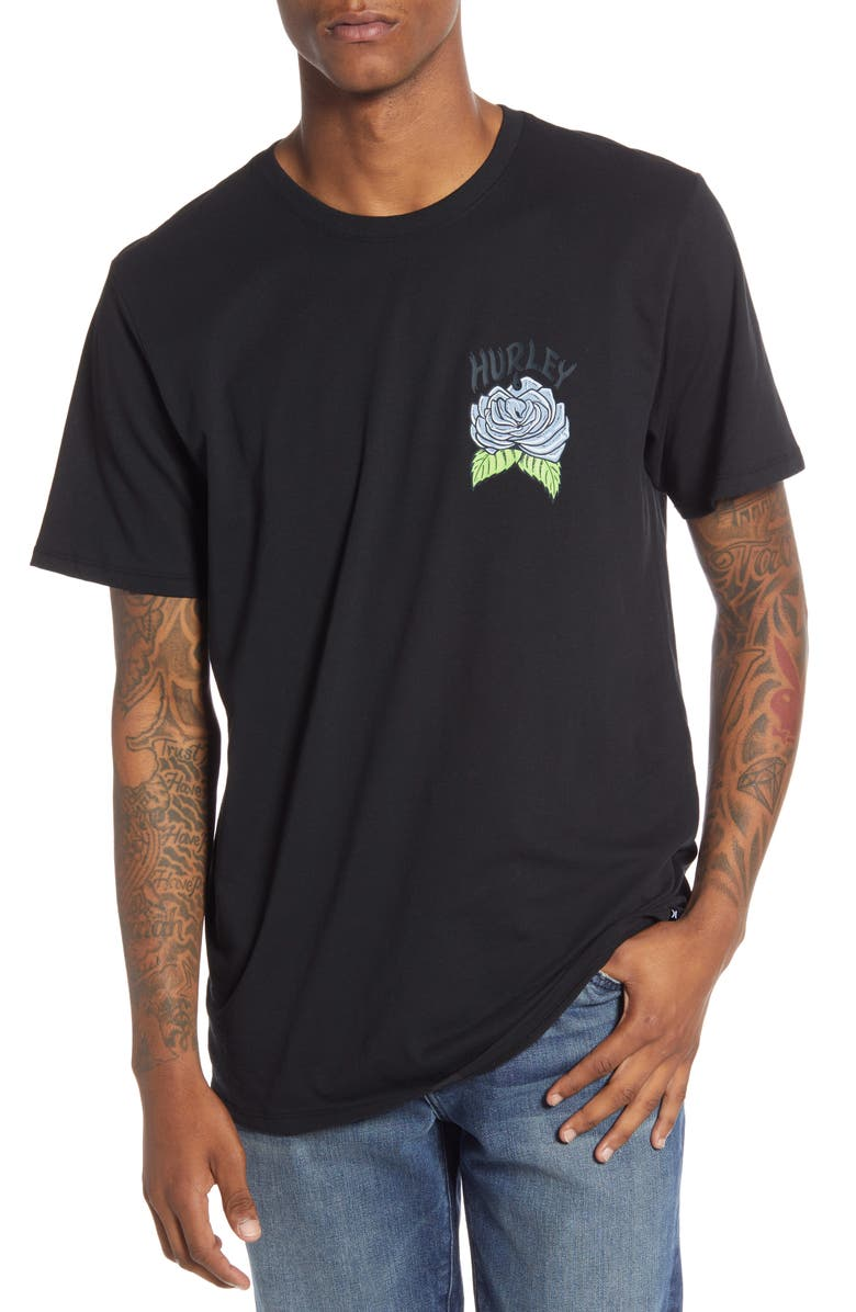 HURLEY Dri-FIT Stinger Graphic T-Shirt, Main, color, 010