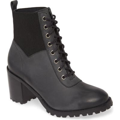 Matisse Moss Lace-Up Boot, Black