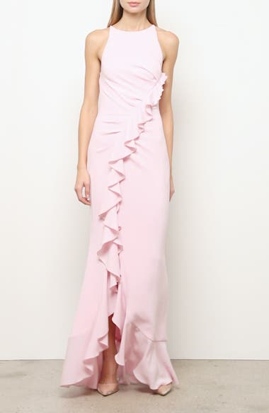 Ruffle Crepe Trumpet Gown, video thumbnail