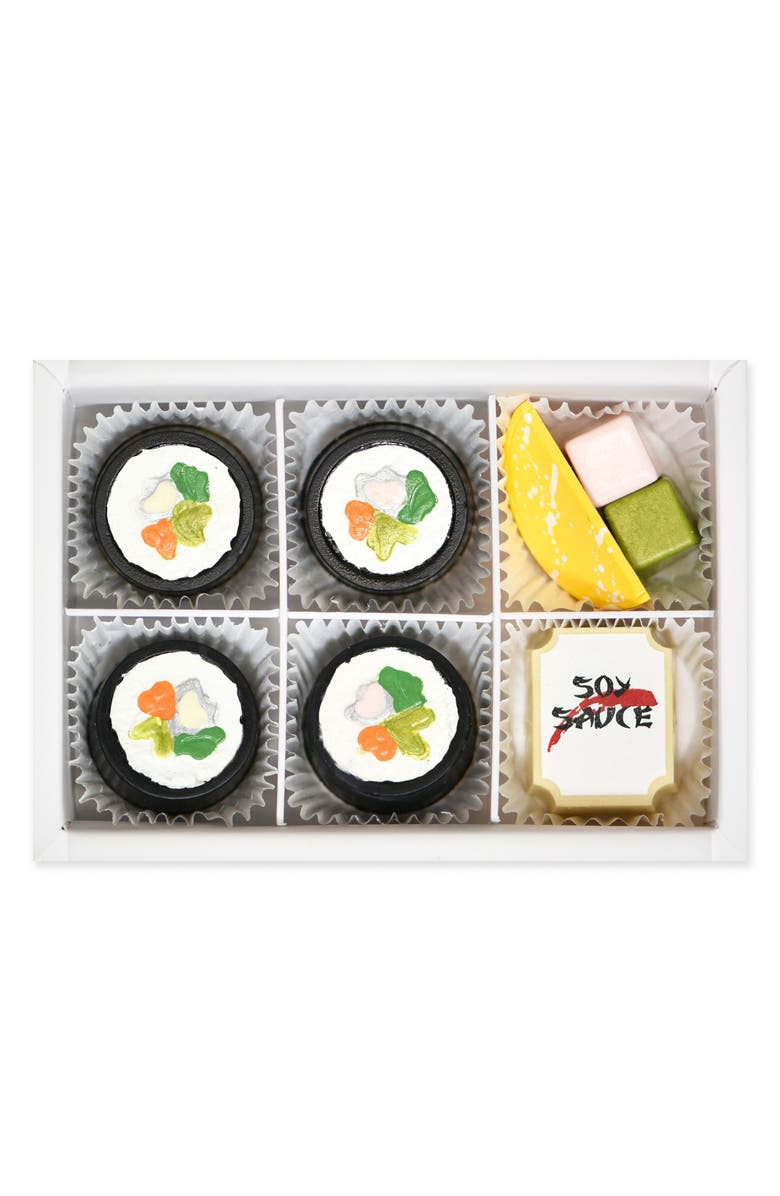MAGGIE LOUISE CONFECTIONS Sushi 6-Piece Chocolates, Main, color, WHITE