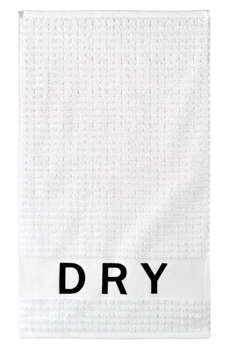 DKNY Chatter Set of 3 Towels, Main, color, WHITE