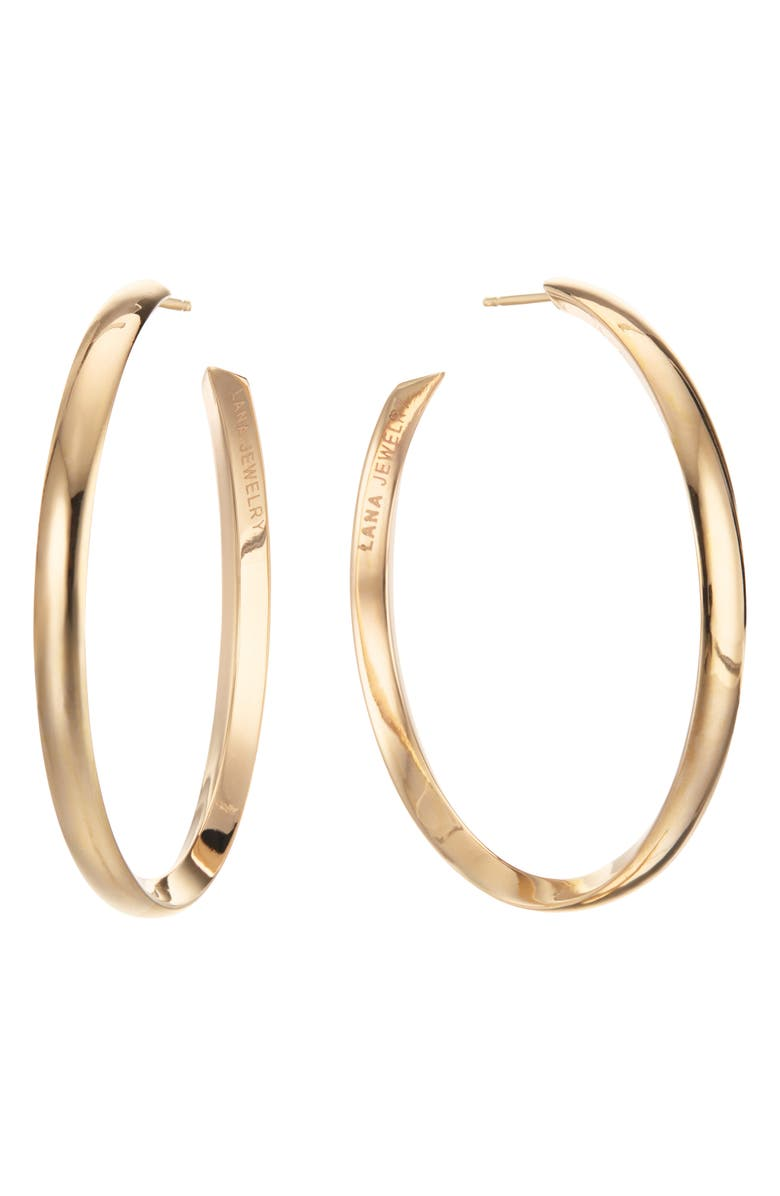 LANA JEWELRY Royale 14K Gold Hoop Earrings, Main, color, YELLOW GOLD