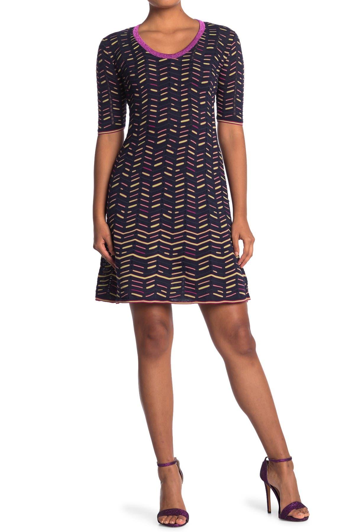 Image of M Missoni Patterned Scoop Neck Dress