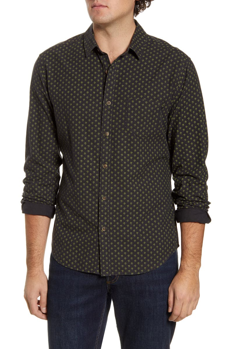 LIFE/AFTER/DENIM Regular Fit Long Sleeve Button-Up Shirt, Main, color, BLACK