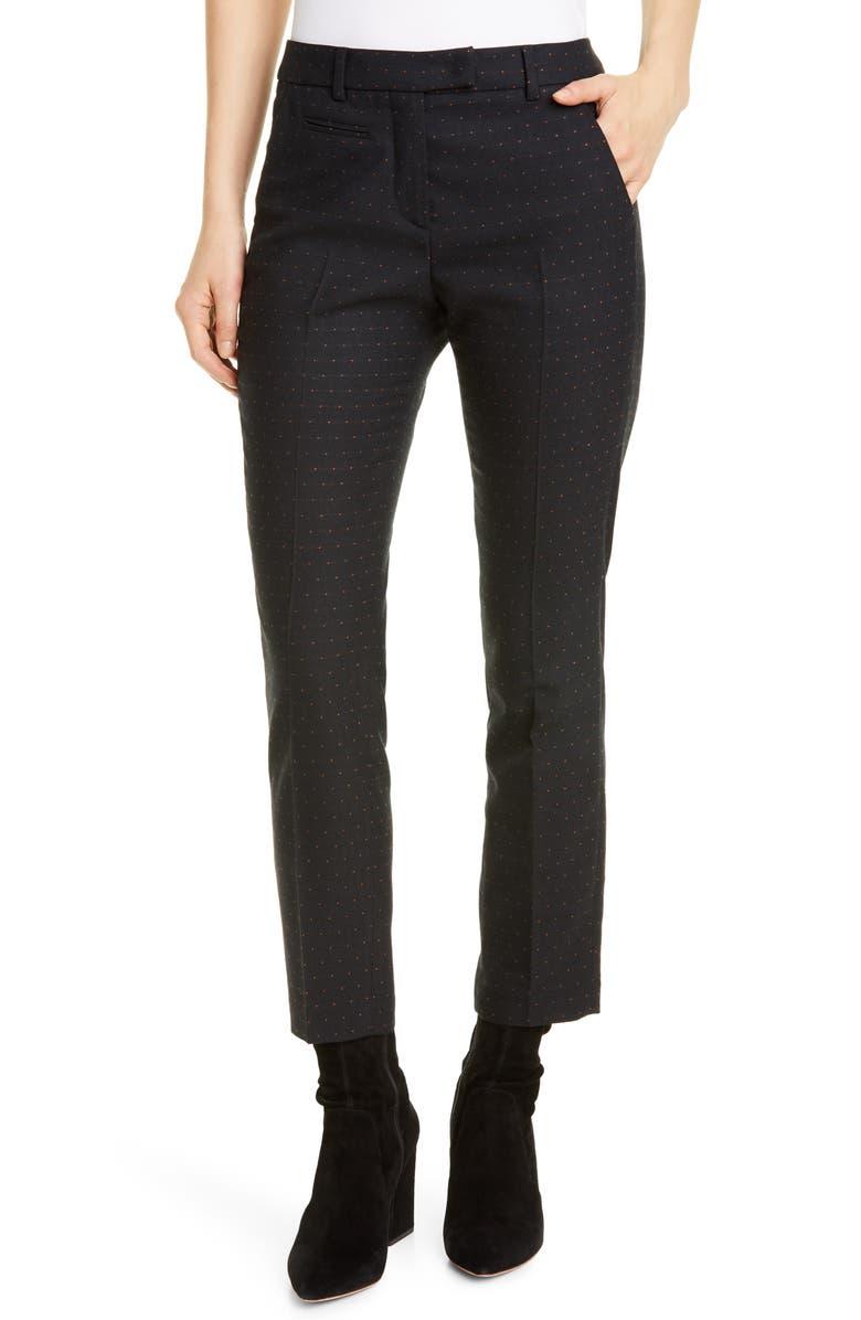 SEVENTY Pin Dot Crop Pants, Main, color, 001