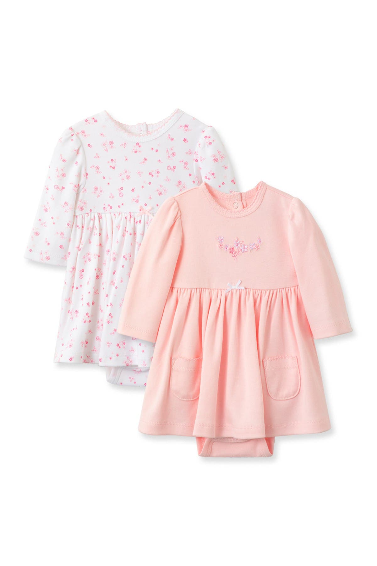 Image of Little Me Love Coverall Dress Set - Pack of 2