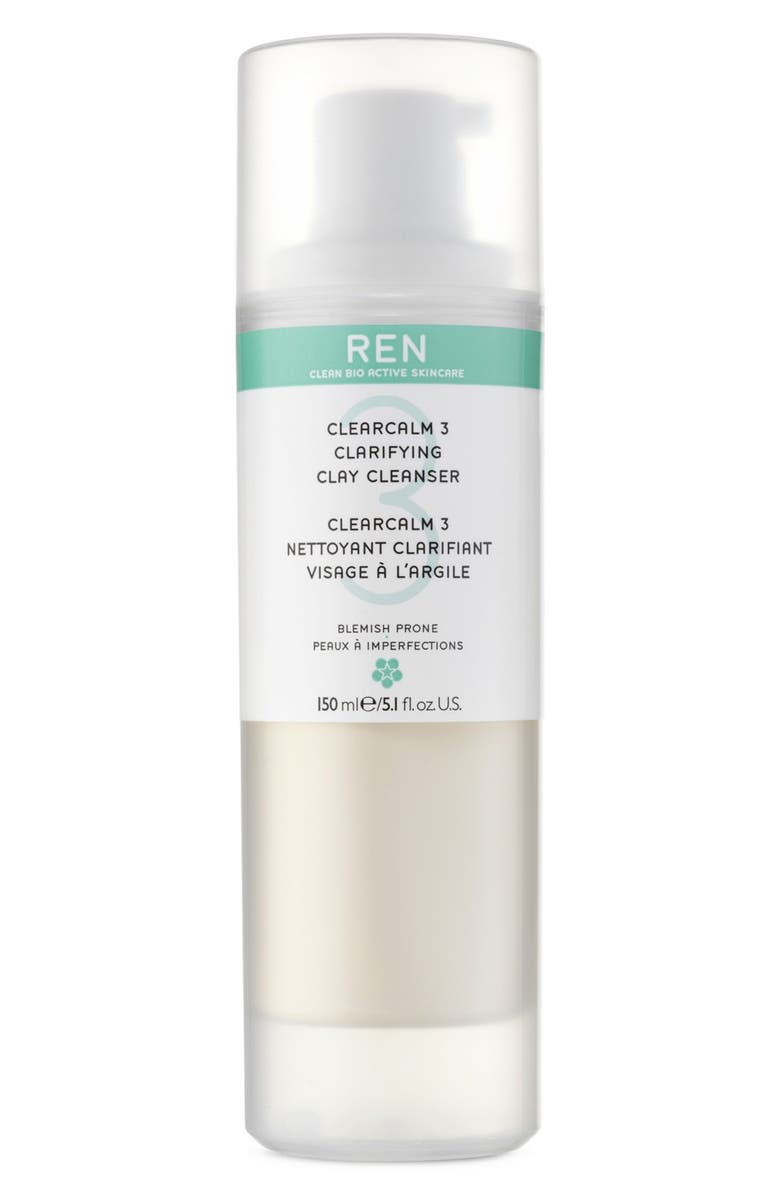REN 'Clearcalm 3' Clarifying Clay Cleanser, Main, color, 000