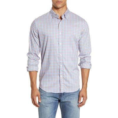 Faherty Movement Plaid Button-Up Shirt, Blue