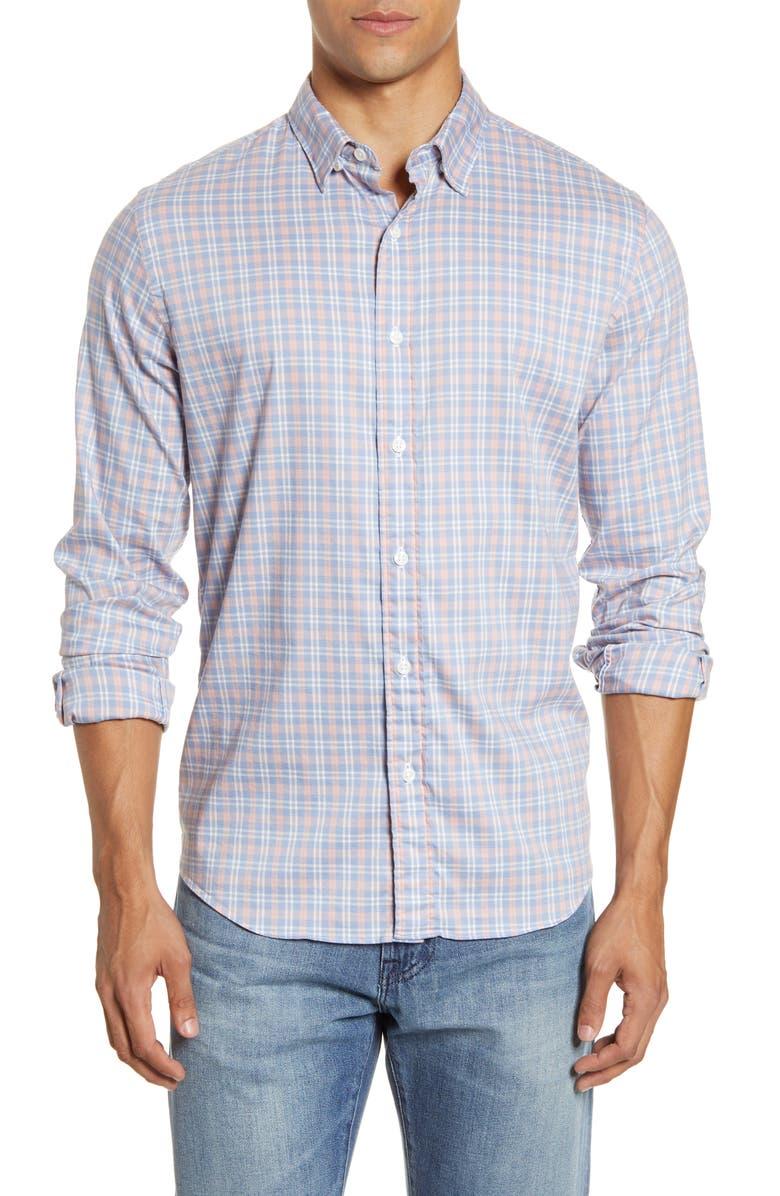 FAHERTY Movement Plaid Button-Up Shirt, Main, color, 400
