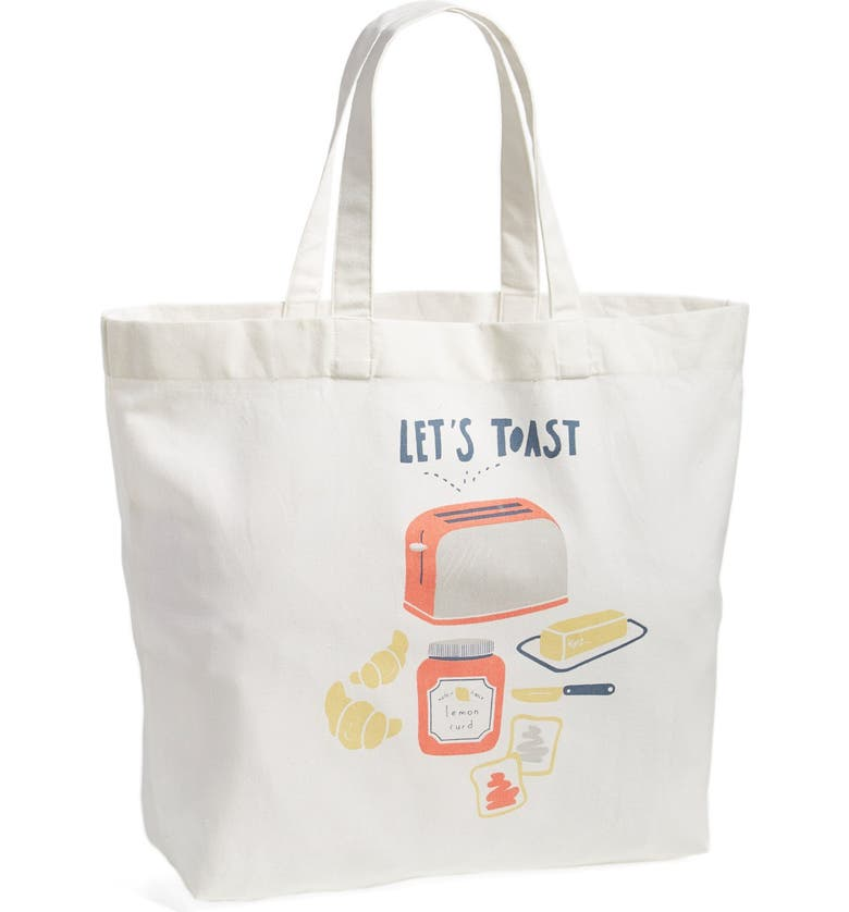 NORDSTROM at Home 'Pick Me Up - Let's Toast' Tote, Main, color, 900