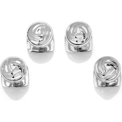 Cufflinks, Inc. Modern Knot Silver Shirt Studs