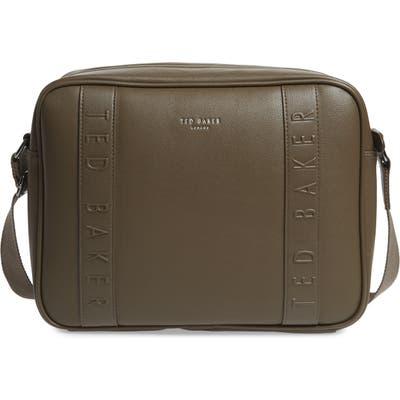 Ted Baker London Tabla Dispatch Faux Leather Messenger Bag - Green