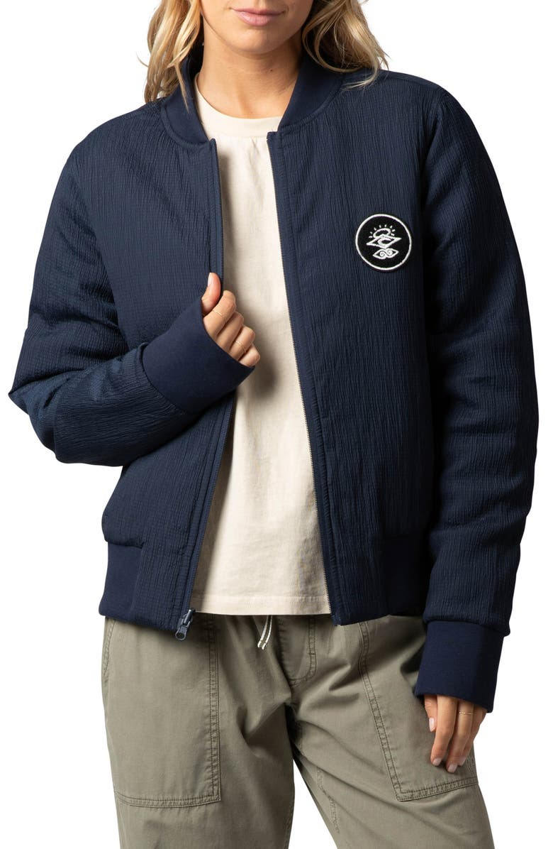 RIP CURL The Endeavor Reversible Bomber Jacket, Main, color, NAVY