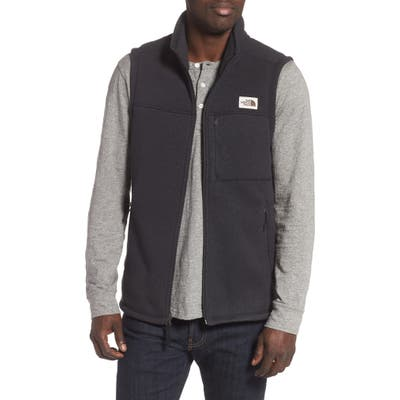 The North Face Gordon Lyons Sweater Fleece Vest, Black