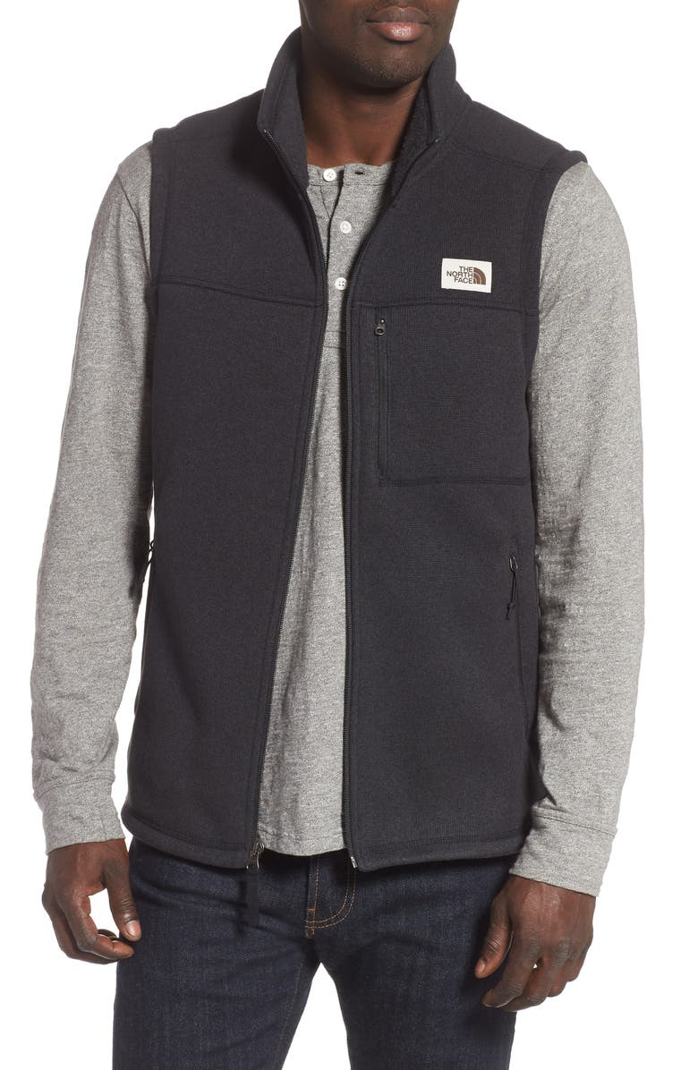 THE NORTH FACE Gordon Lyons Sweater Fleece Vest, Main, color, 001