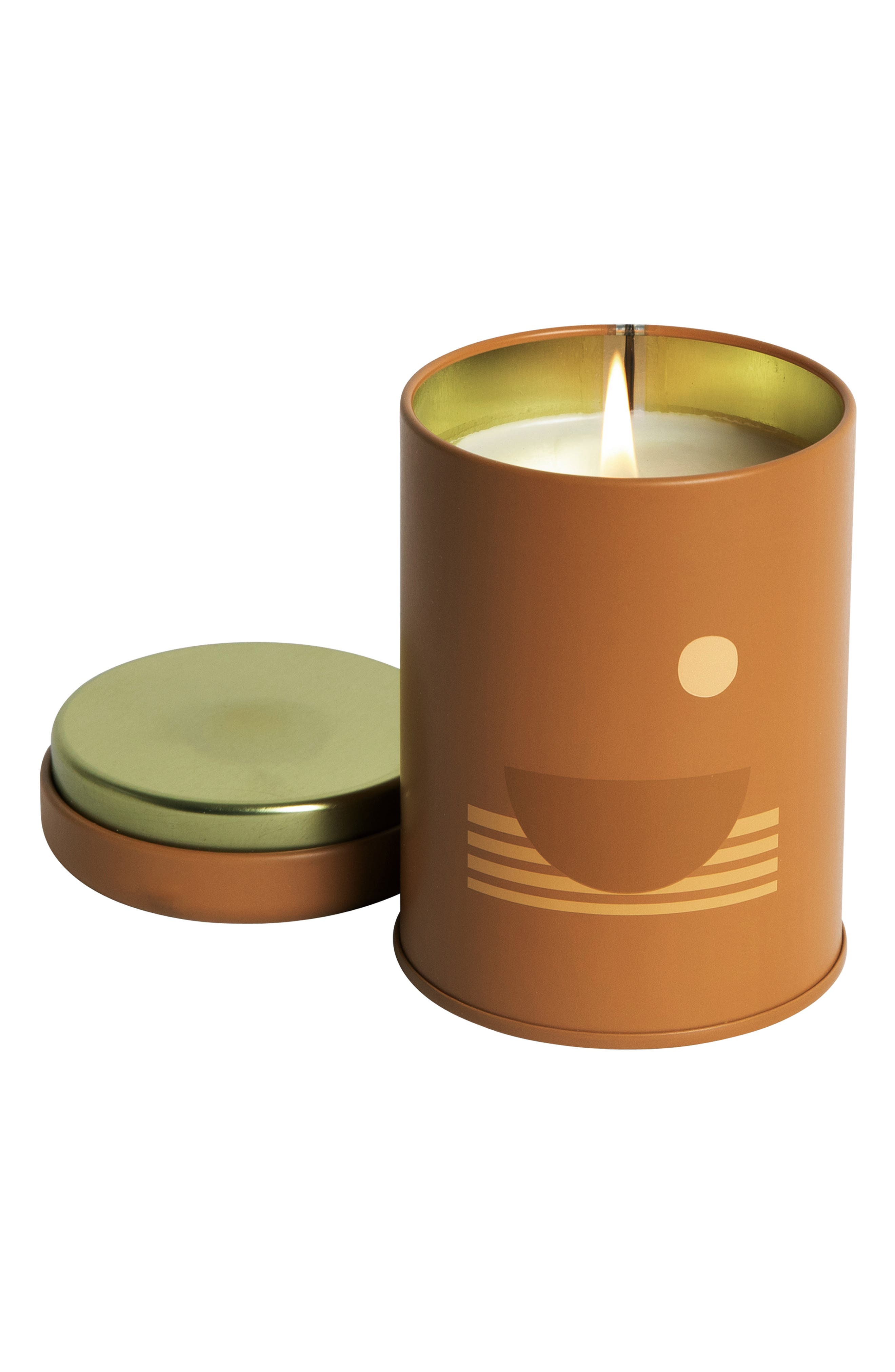 What it is: A candle made with plant-derived fragrance oils, soy wax and cotton-core wicks is housed in a patterned jar inspired by summer in California. Swell: Noon. Salty skin, steady tides, endless afternoons in the hot summer sun- Style: Vibrant, juicy, aquatic- Notes: Black currant, tuberose, sea moss. Dusk: 8 p.m. Taking the long way home, the buzz of streetlights, everything washed in shades of blue- Style: Mysterious, dreamy,