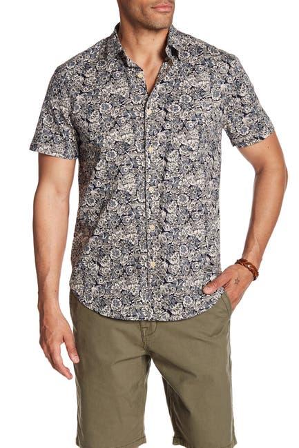 Image of Lucky Brand Ballona Floral Short Sleeve Regular Fit Shirt