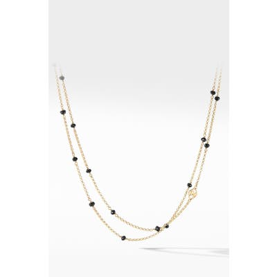 David Yurman Cable Collectibles Bead & 18K Yellow Gold Chain Necklace