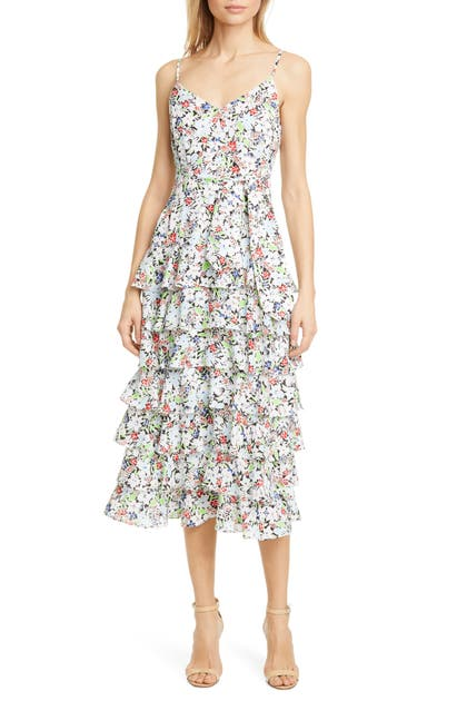 Likely ARIELLA FLORAL TIERED RUFFLE SUNDRESS