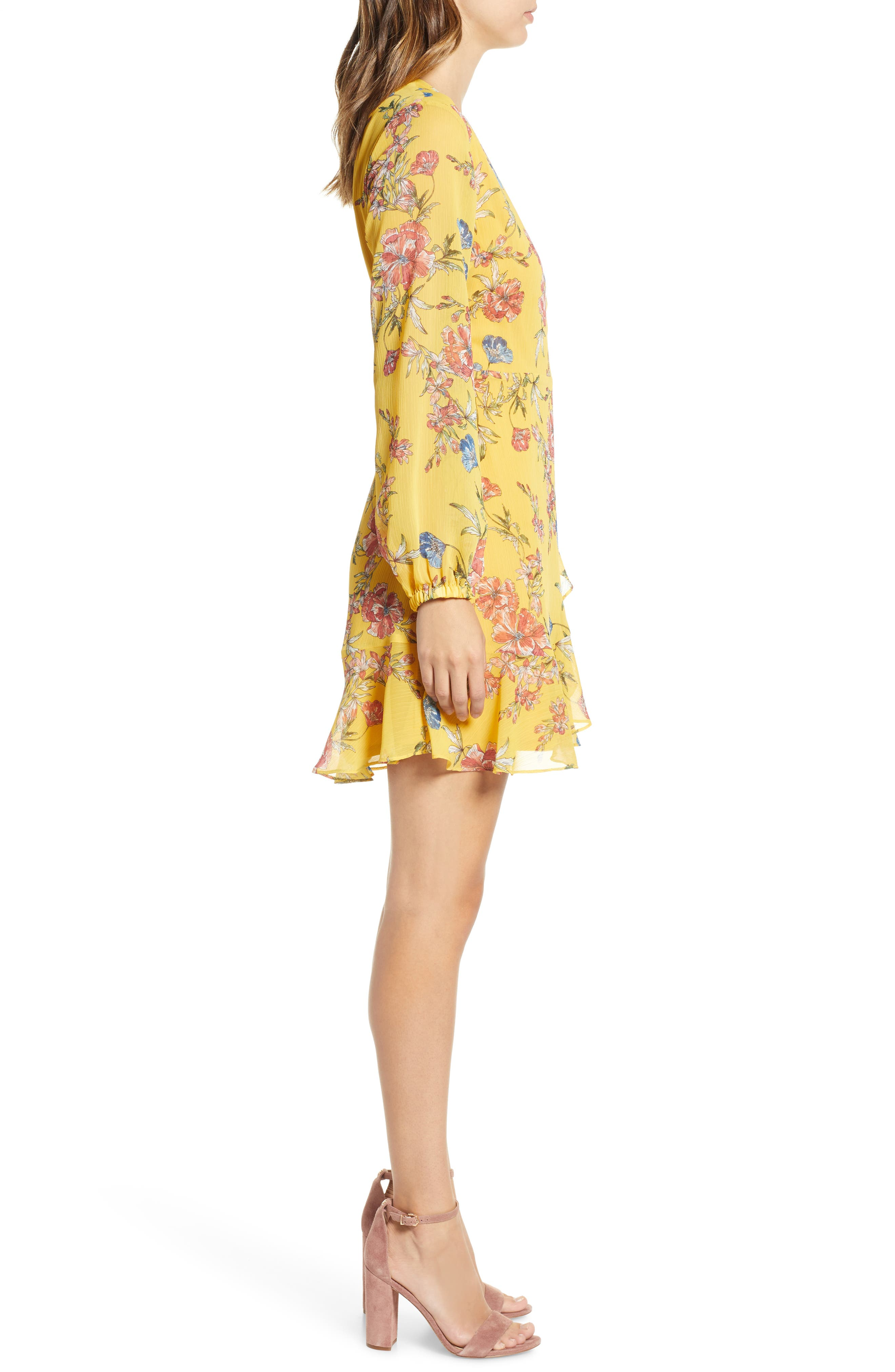 ,                             Brittany Wrap Minidress,                             Alternate thumbnail 64, color,                             705