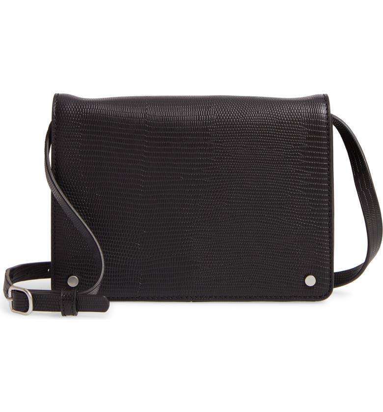 TREASURE & BOND Mini Lex Leather Crossbody Bag, Main, color, 001