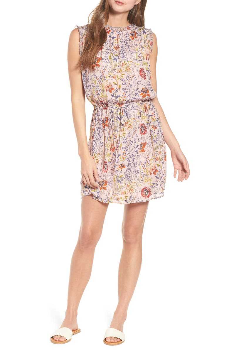VELVET BY GRAHAM & SPENCER Floral Print Sleeveless Dress, Main, color, 679