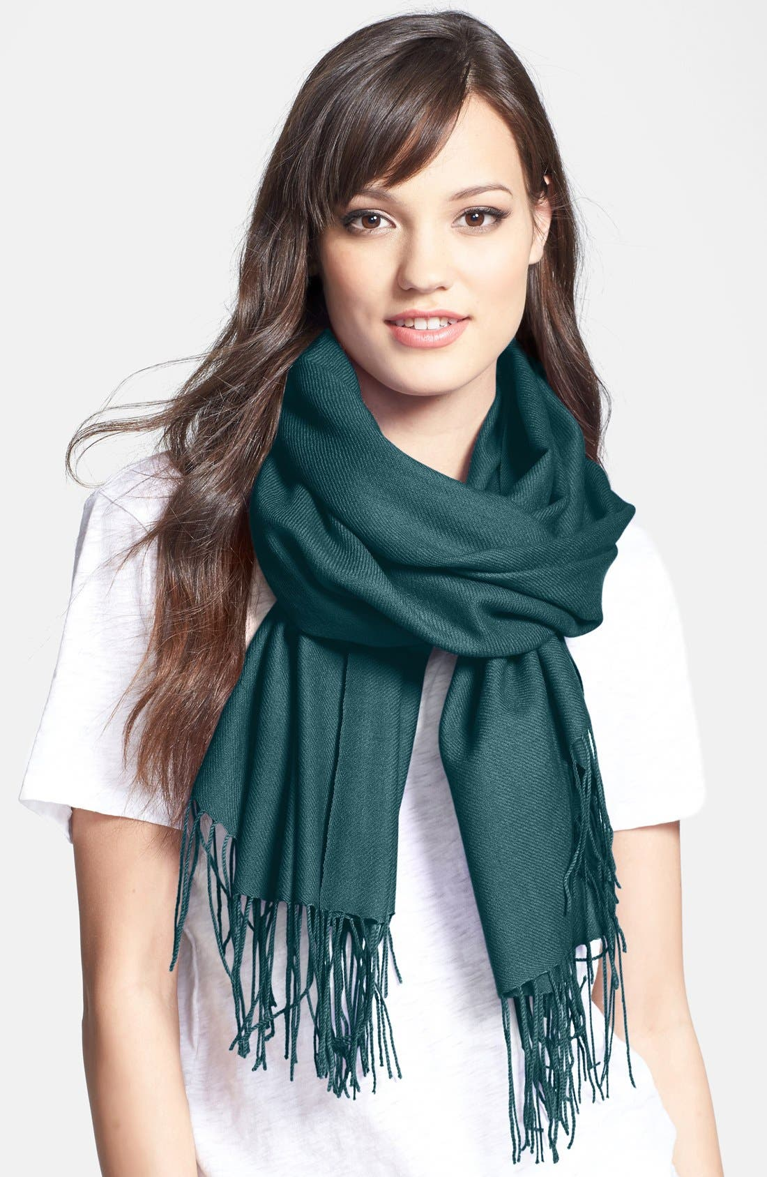 ,                             Tissue Weight Wool & Cashmere Wrap,                             Main thumbnail 88, color,                             442