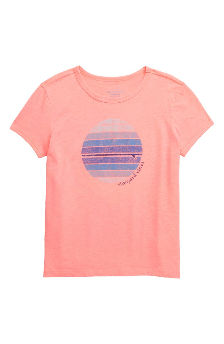 VINEYARD VINES LA Circle Graphic Tee, Main, color, PAPAYA