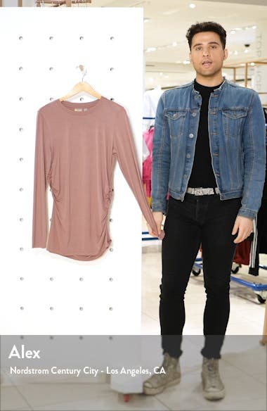 Asymmetrical Side Ruched Tee, sales video thumbnail