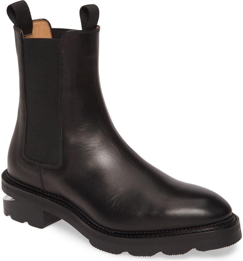 ALEXANDER WANG Andee Chelsea Boot, Main, color, BLACK