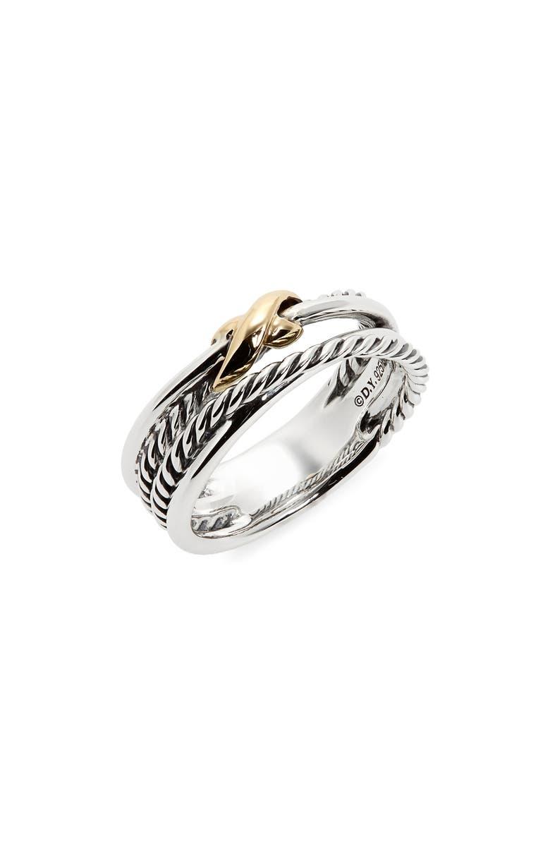 DAVID YURMAN X Crossover Ring, Main, color, TWO TONE