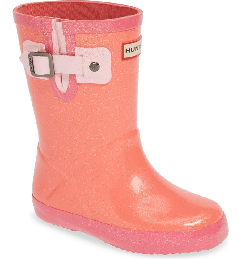 HUNTER Original Starcloud Waterproof Glitter Rain Boot, Main, color, PINK / CANDY FLOSS