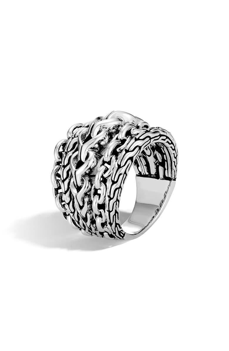 JOHN HARDY Asli Link Ring, Main, color, SILVER