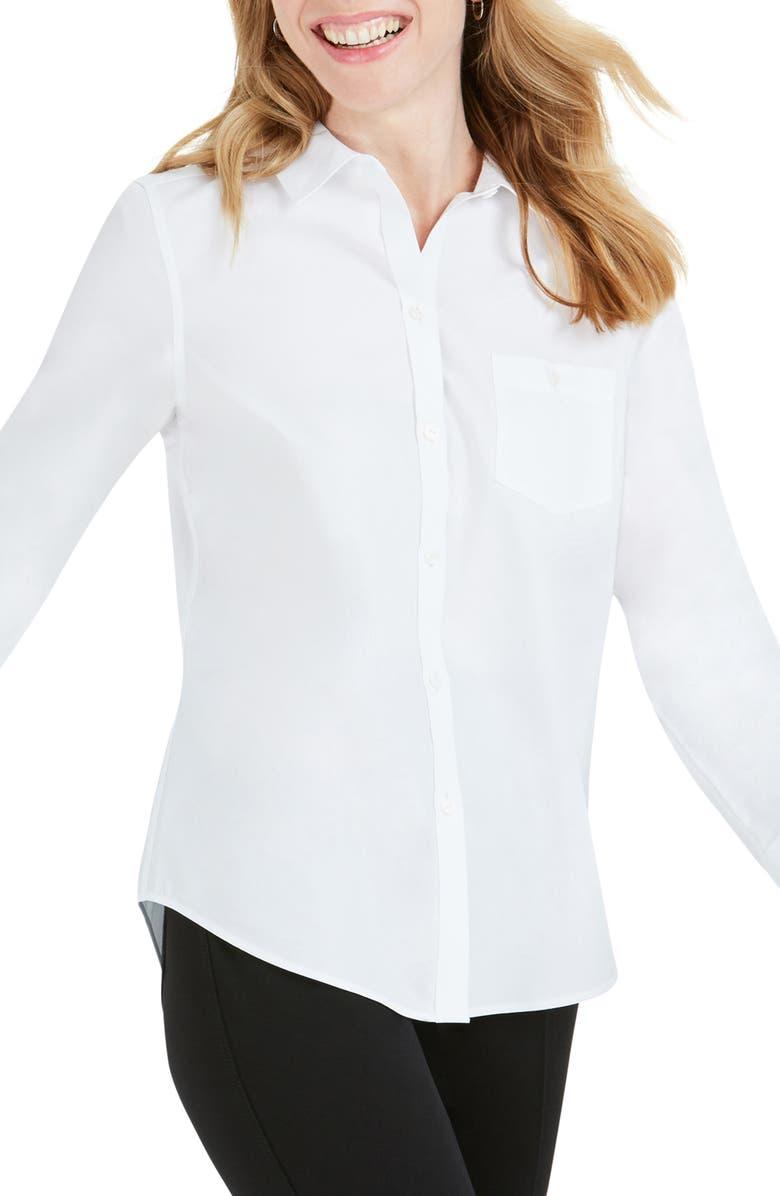 FOXCROFT The Hampton Button Down Shirt, Main, color, WHITE