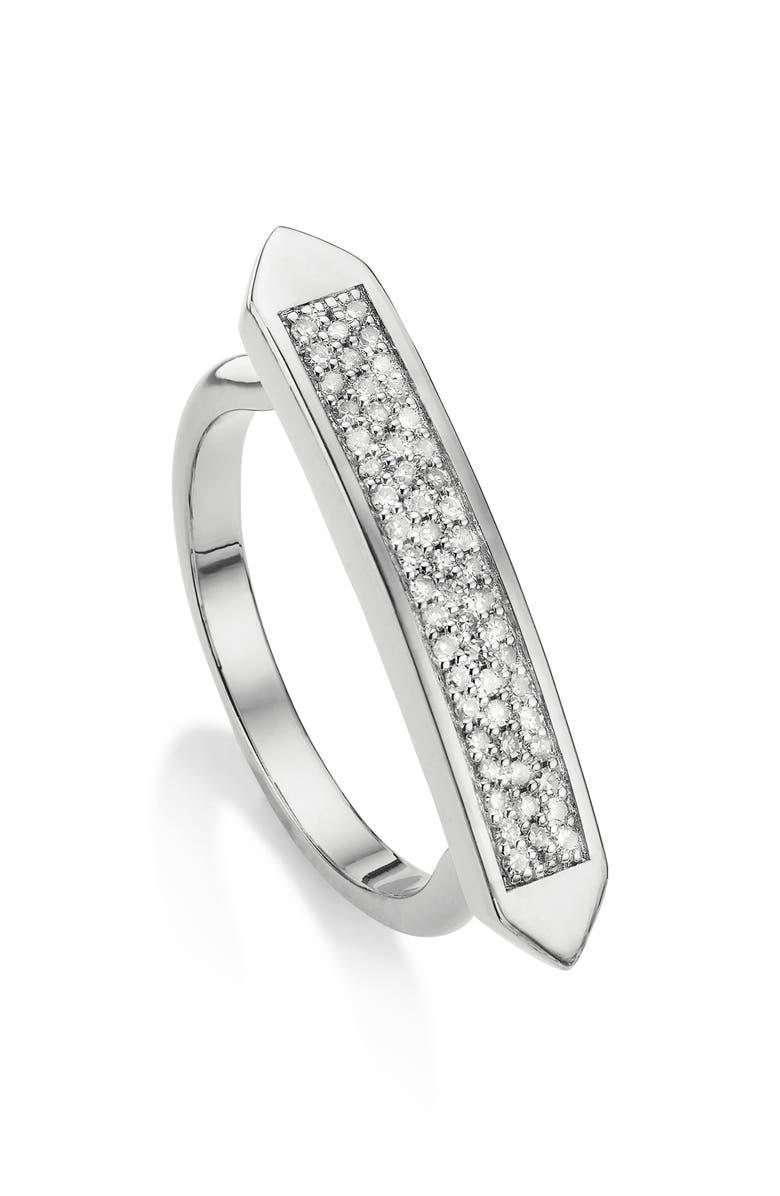 MONICA VINADER Baja Skinny Diamond Stacking Ring, Main, color, 040