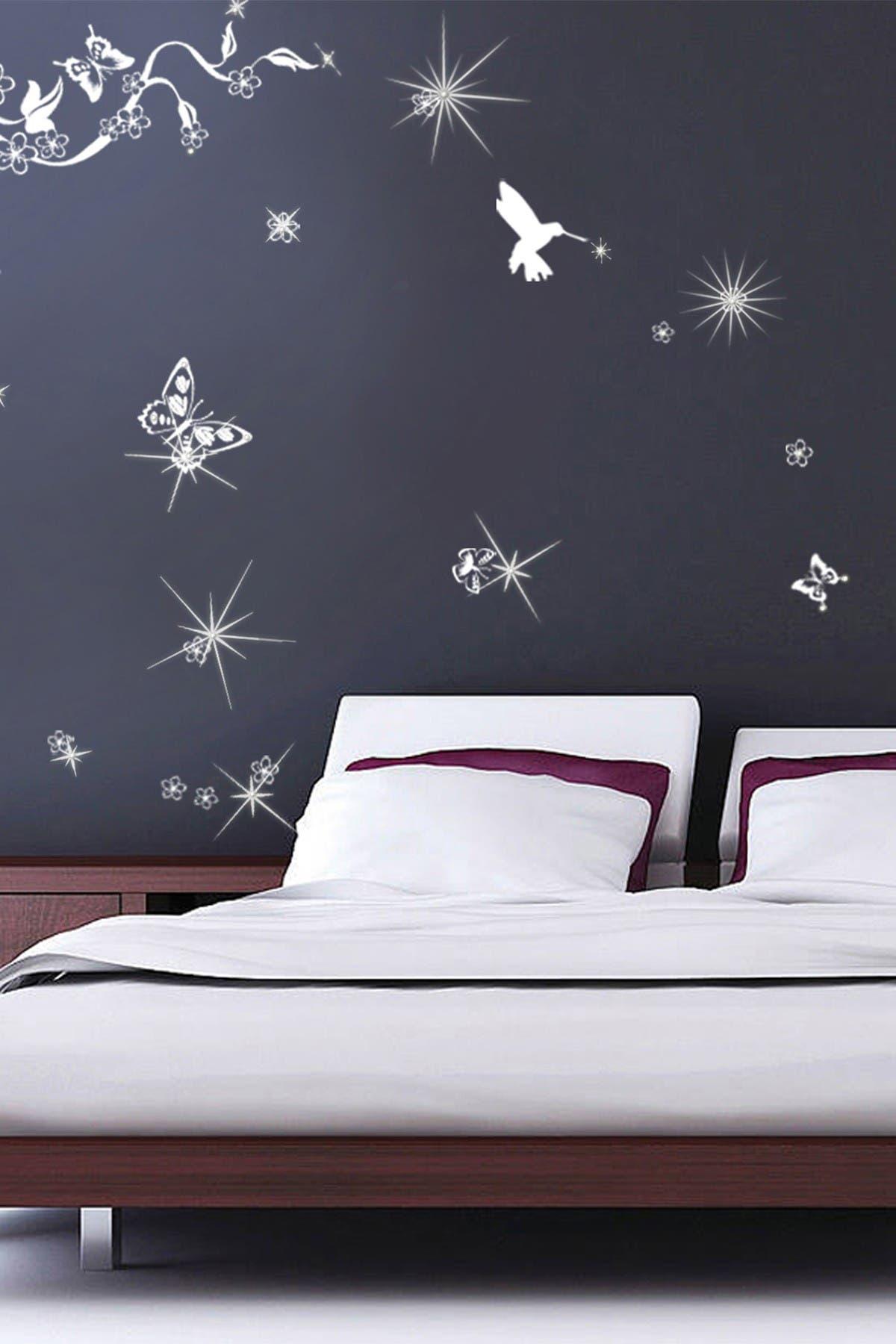 Image of WalPlus Butterflies Vine & Swarovski Crystal Wall Sticker Set