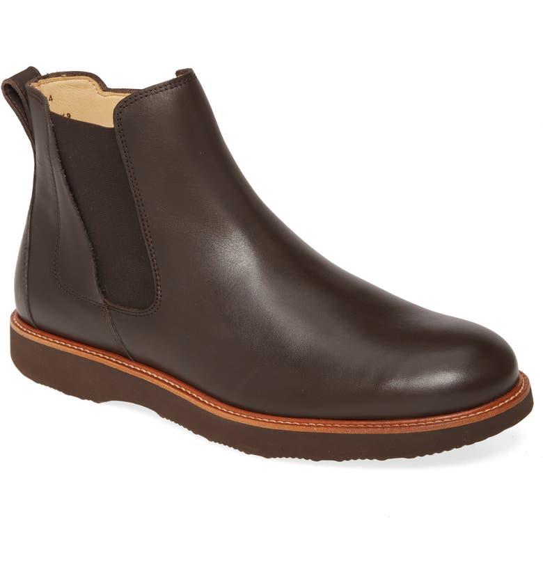 SAMUEL HUBBARD 24 Seven Zip Boot, Main, color, DARK BROWN LEATHER