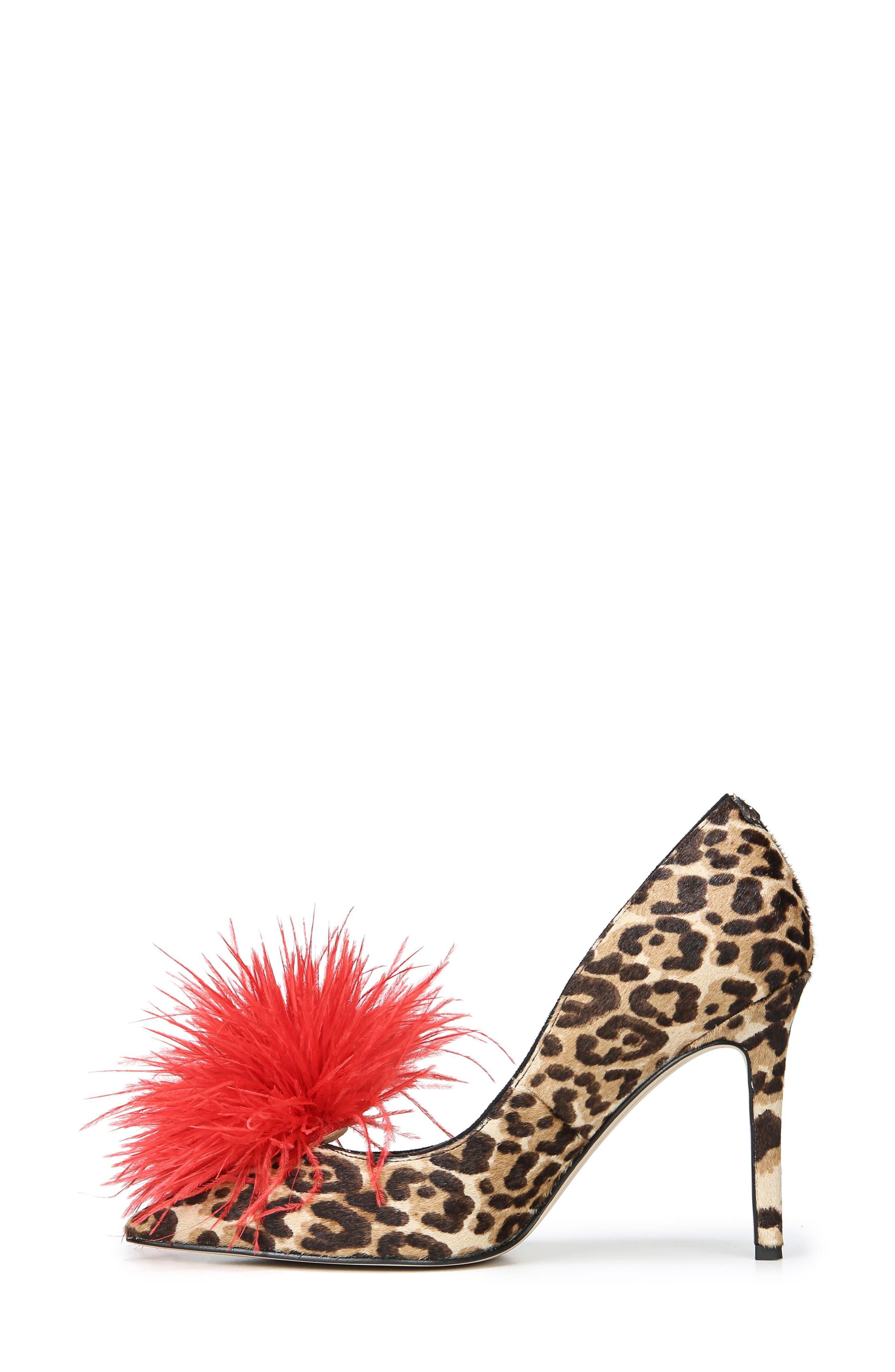 ,                             Haide Feather Genuine Calf Hair Pompom Pump,                             Alternate thumbnail 12, color,                             200