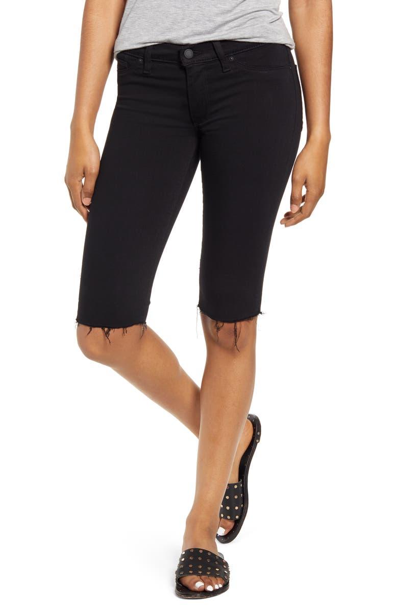 HUDSON JEANS Amelia Cutoff Knee Shorts, Main, color, 001