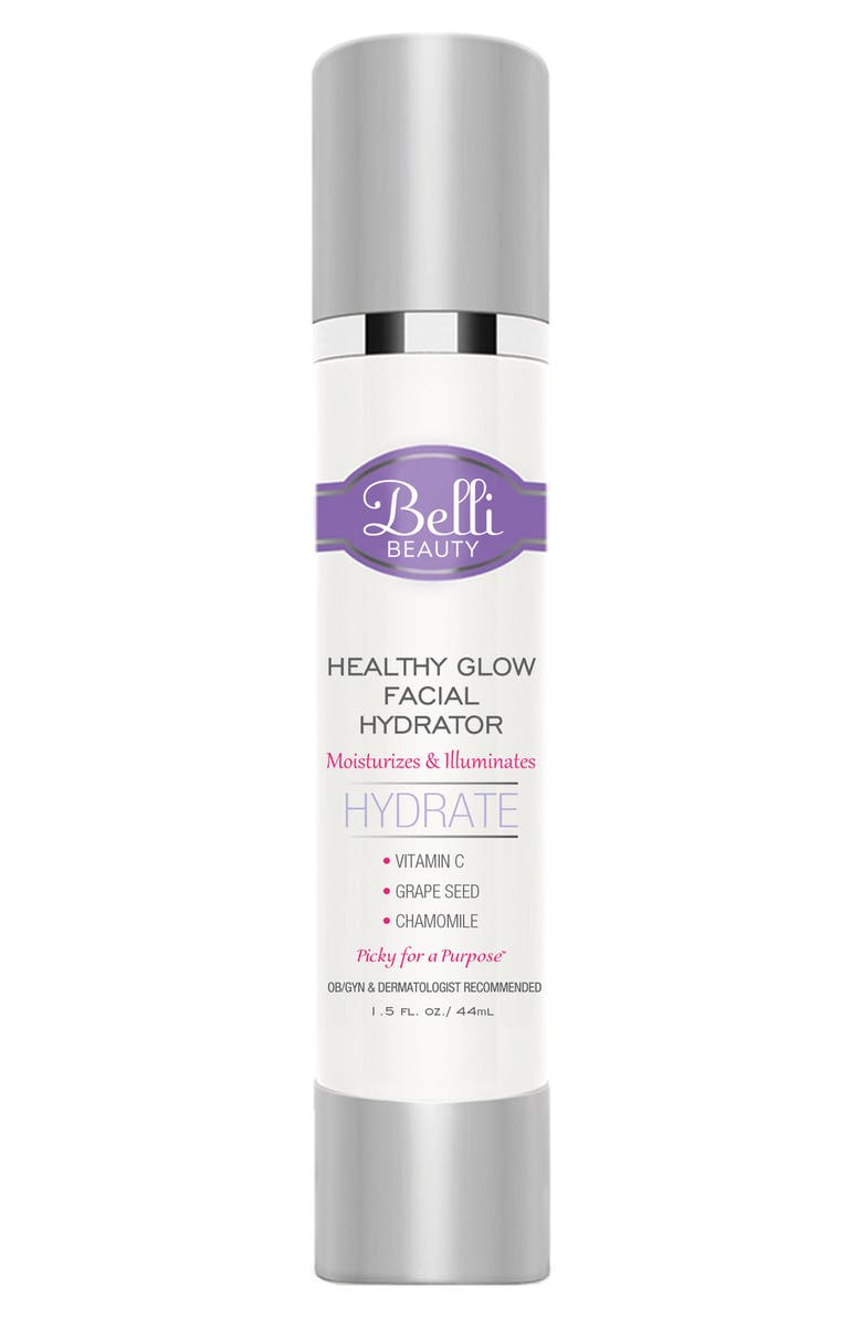 BELLI SKINCARE MATERNITY Healthy Glow Facial Hydrator Lightweight Moisturizer, Main, color, WHITE