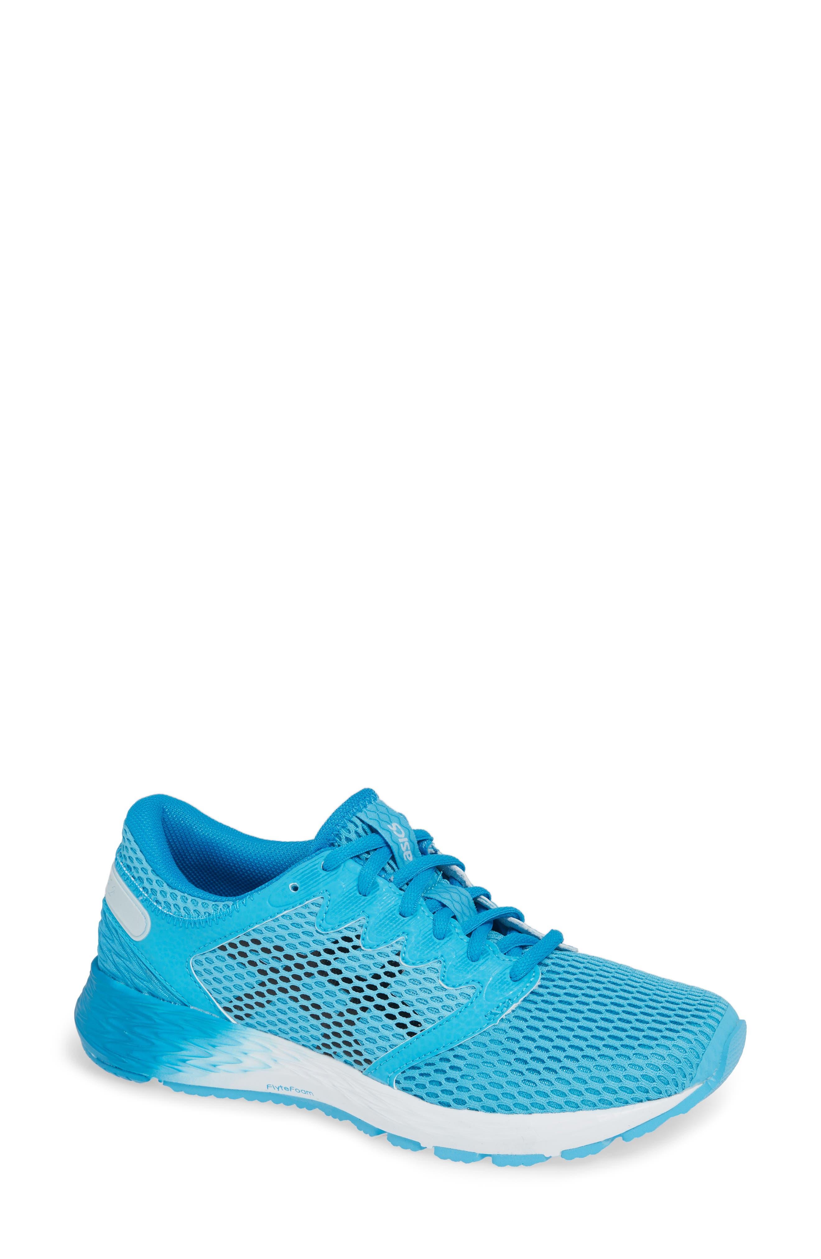 Asics Roadhawk Ff 2 Running Shoe, Blue/green