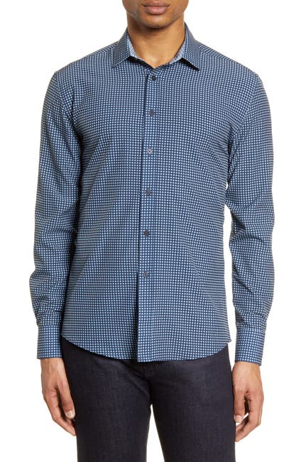 Image of Vince Camuto Slim Fit Button-Up Performance Shirt
