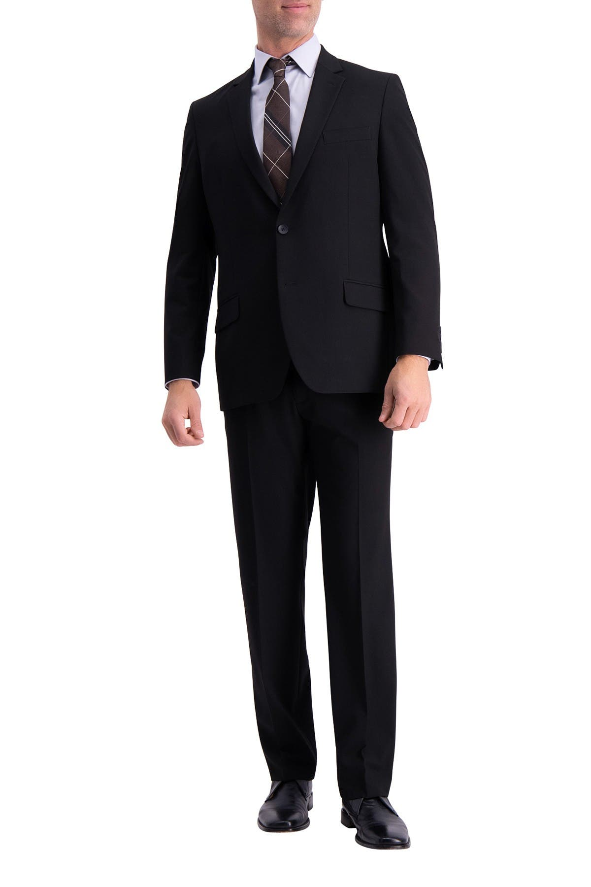 Image of HAGGAR Stretch Solid 4-Way Stretch 2-Button Suit Separate Coat