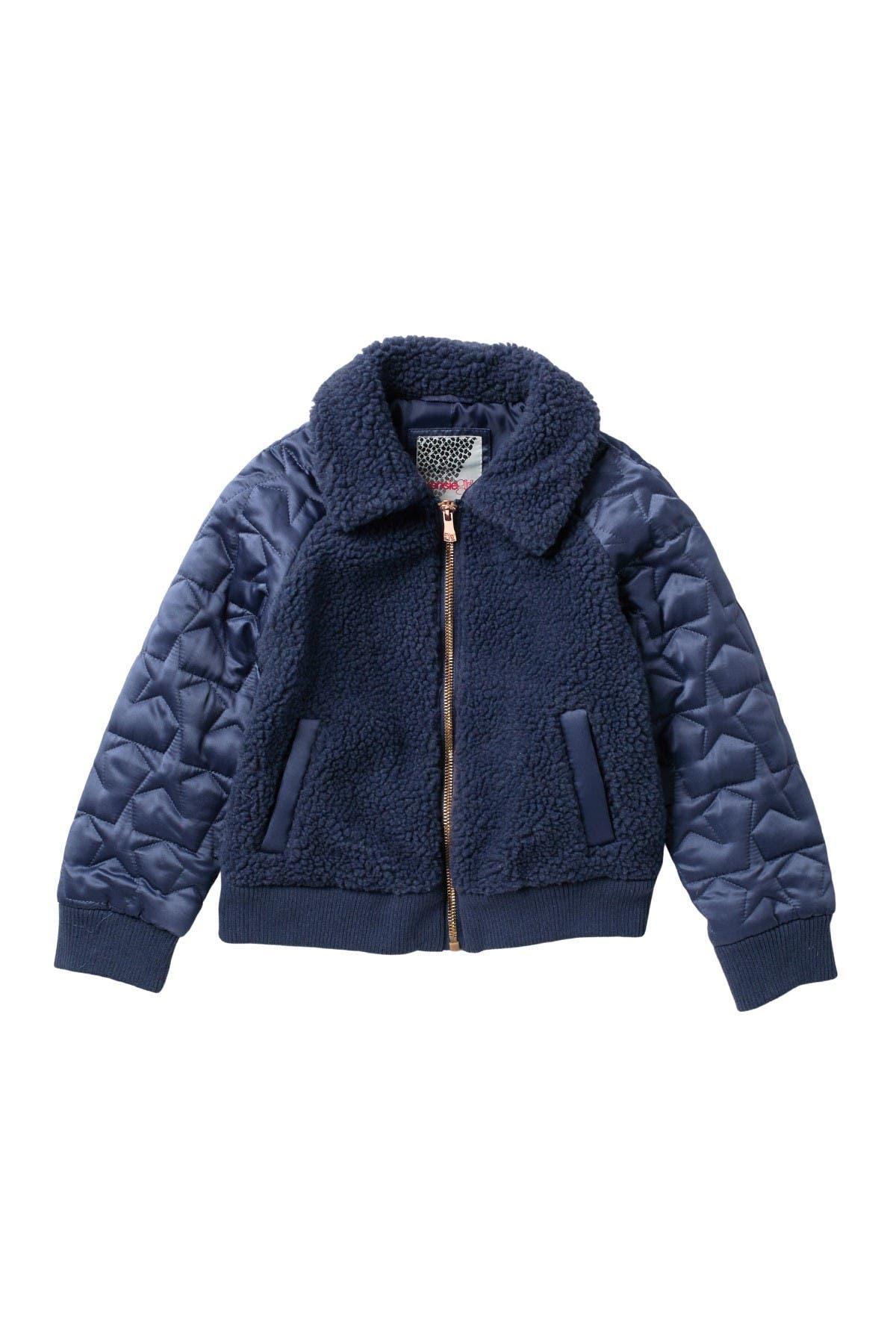 Kensie Girl Teddy Coat Girls Cropped Faux Shearling Fur Jacket