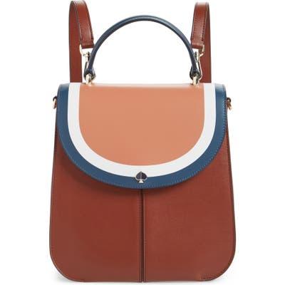 Kate Spade New York Andi Stripe Medium Convertible Backpack - Brown