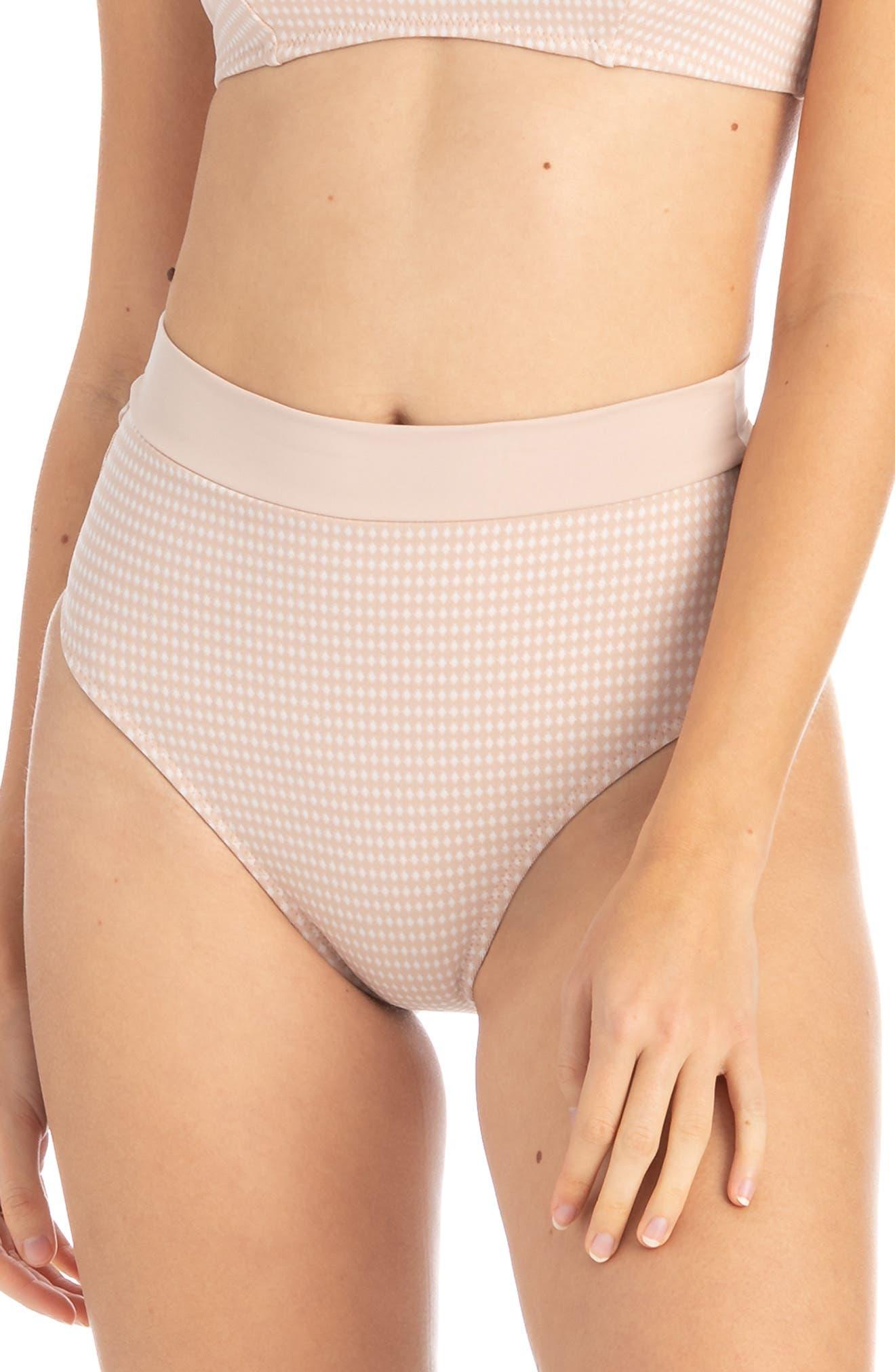 Tavik Pernille High Waist Bikini Bottoms, Beige