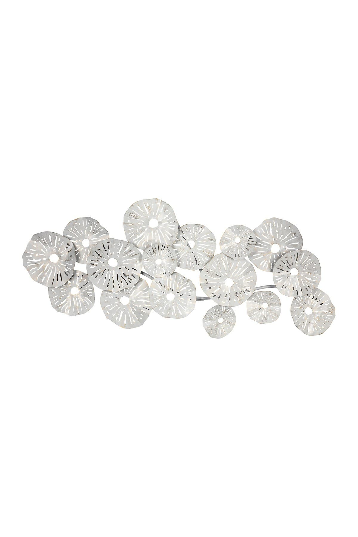Image of Stratton Home White Layered Sand Dollar Centerpiece Wall Decor