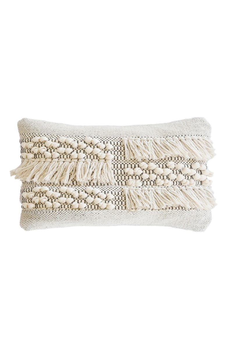 POM POM AT HOME Zahra Accent Pillow, Main, color, IVORY